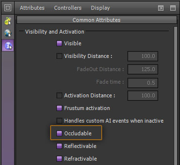 Occlusion Tutorial - Settings for Occludable Property